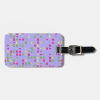 Purple Flower Confetti Luggage Tag