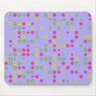 Purple Flower Confetti Mouse Pad