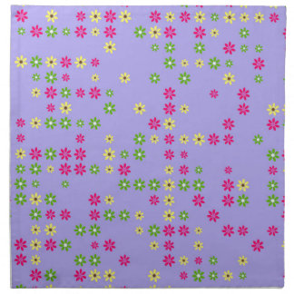 Purple Flower Confetti Napkin
