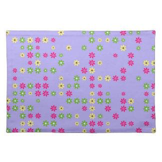 Purple Flower Confetti Placemat