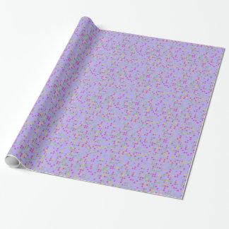 Purple Flower Confetti Wrapping Paper