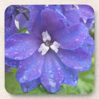 Purple flower beverage coasters