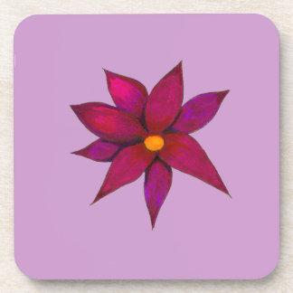 Purple Flower Cork Coaster