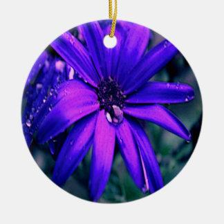 Purple Flower Christmas Ornaments