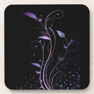 Purple Flower Design Coasters