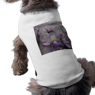 Purple Flower Doggie Ribbed Tank Top Sleeveless Dog Shirt