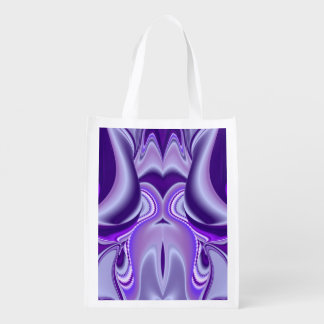 Purple Flower Dreams Reusable Grocery Bag