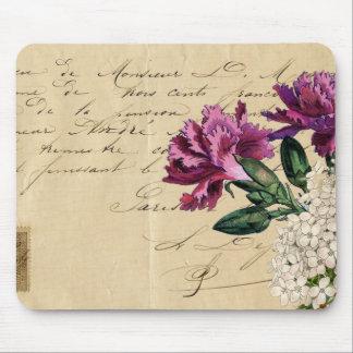 Purple Flower Ephemera Mouse Pad