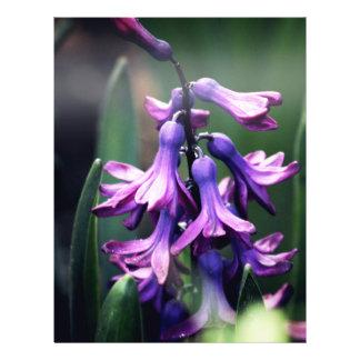 """Purple Flower 8.5"""" X 11"""" Flyer"""