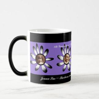 Purple Flower Frames Coffee Mugs
