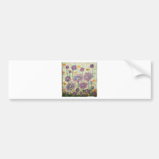 Purple Flower Fun Bumper Sticker