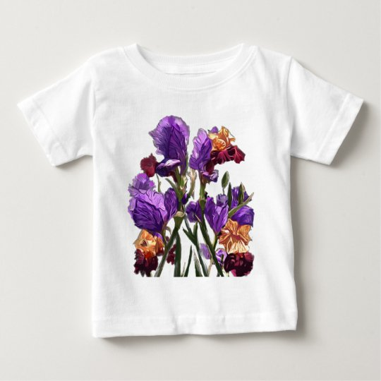 purple flower garden baby T-Shirt