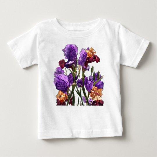 purple flower garden baby T-Shirt