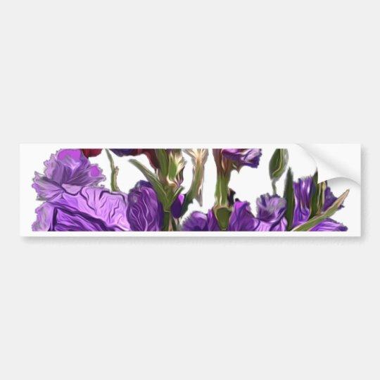 purple flower garden bumper sticker