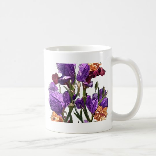 purple flower garden coffee mug