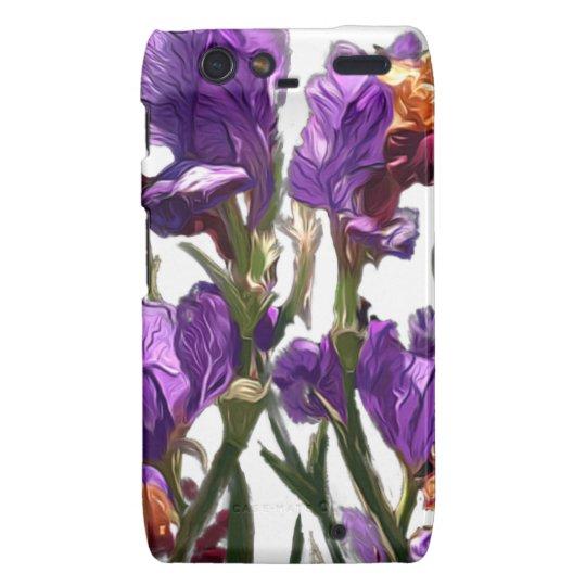 purple flower garden droid RAZR case