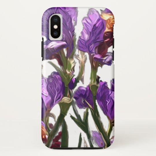 purple flower garden HTC vivid cases