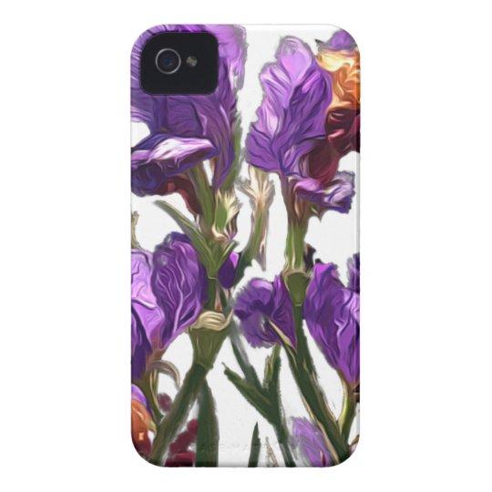 purple flower garden iPhone 4 cover
