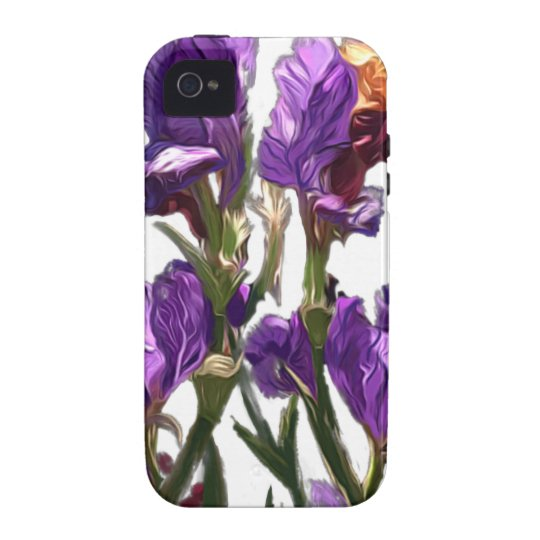 purple flower garden iPhone 4 covers