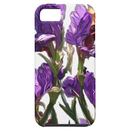 purple flower garden iPhone 5 cases