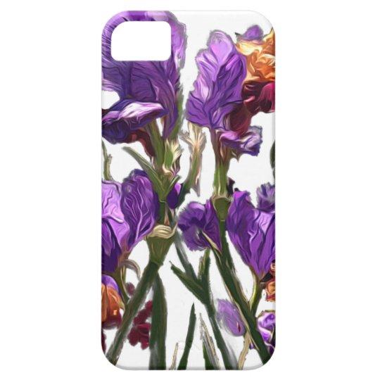 purple flower garden iPhone 5 covers