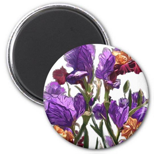 purple flower garden magnet