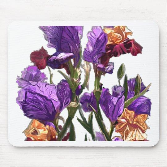 purple flower garden mouse pad