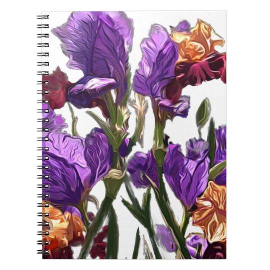 purple flower garden notebook