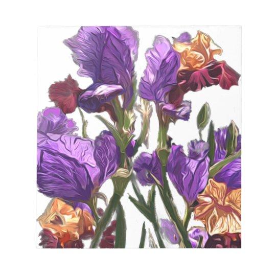 purple flower garden notepad