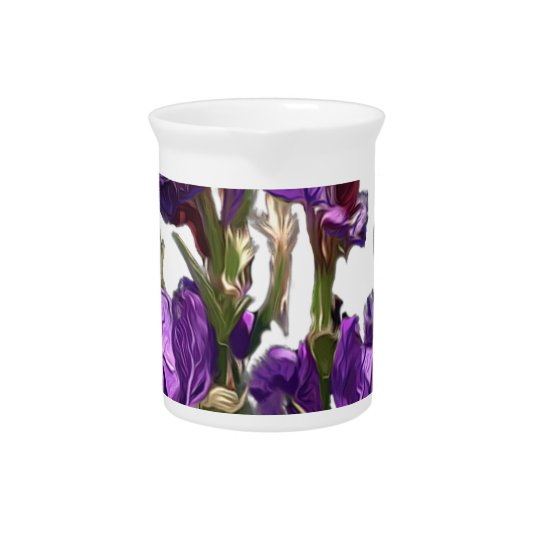 purple flower garden pitcher