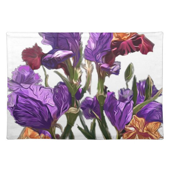 purple flower garden placemat