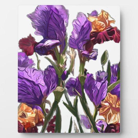 purple flower garden plaque