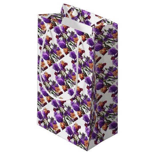purple flower garden small gift bag