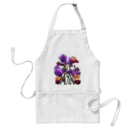 purple flower garden standard apron