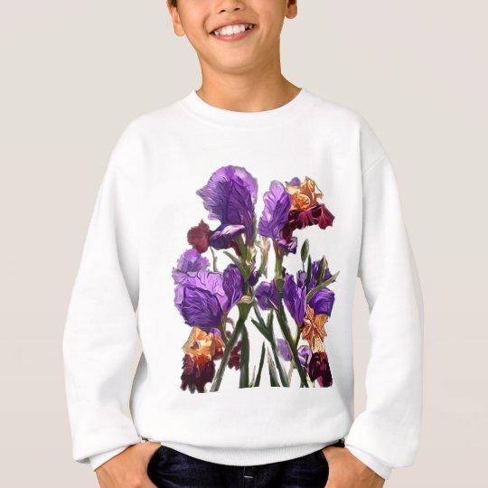 purple flower garden sweatshirt