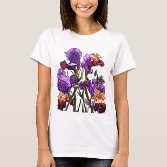 purple flower garden T-Shirt