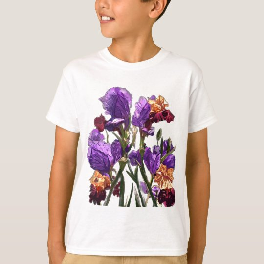 purple flower garden T-Shirt