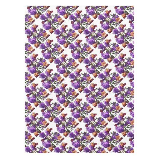 purple flower garden tablecloth