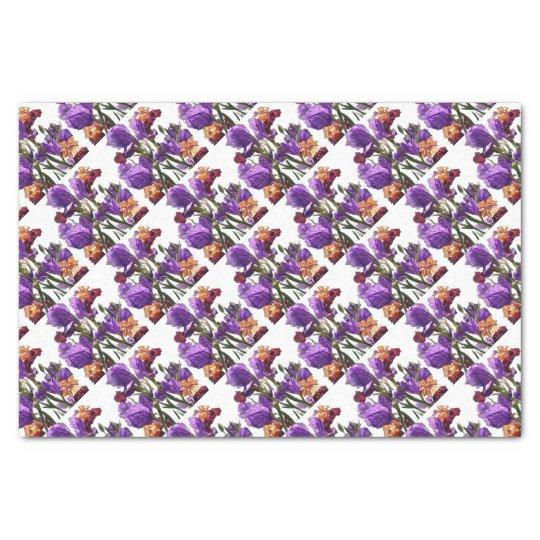 purple flower garden tissue paper