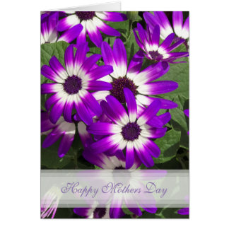 Purple Flower Happy Mothers Day Card