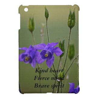 Purple Flower....heart, mind, spirit iPad Mini Covers