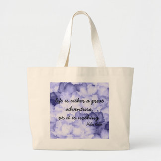 Purple flower Helen Keller quote tote bag.