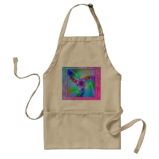 Purple Flower In Blue Standard Apron