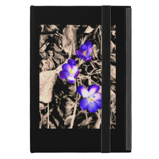 Purple flower iPad mini case