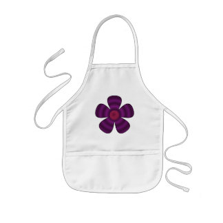 purple flower kids apron