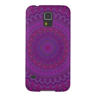Purple flower mandala galaxy s5 cover