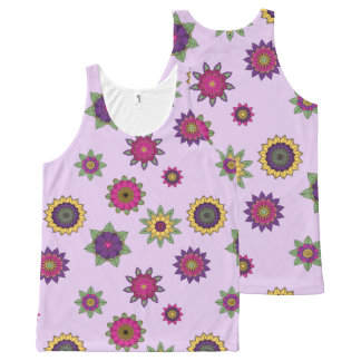 Purple Flower Mandala Garden Tank Top