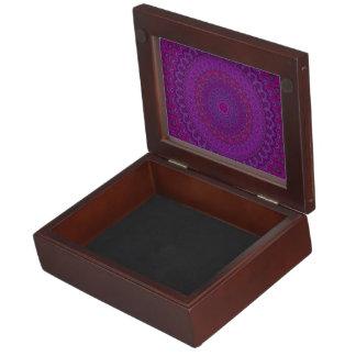 Purple flower mandala keepsake box