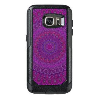 Purple flower mandala OtterBox samsung galaxy s7 case