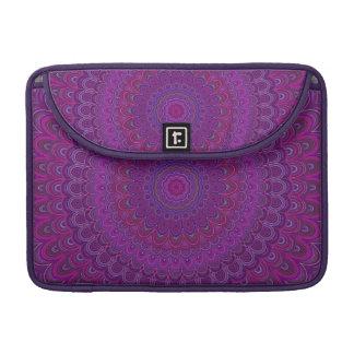 Purple flower mandala sleeves for MacBook pro